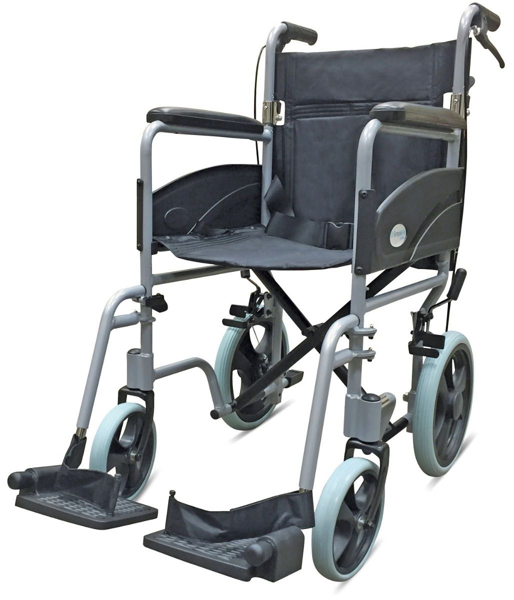 Z-Tec 601X Aluminium Transit Wheelchair in Grey