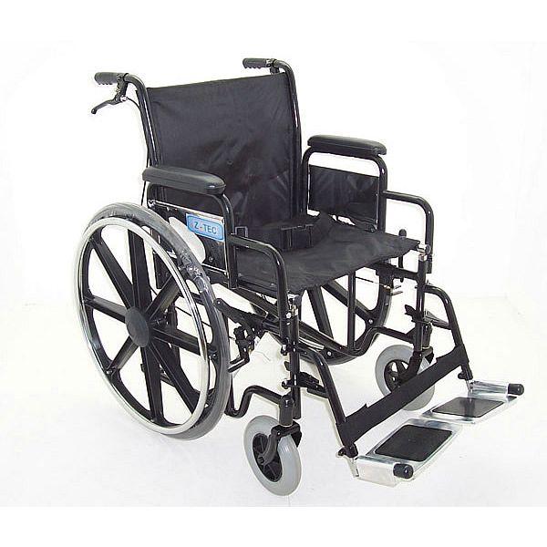 ZT 600-690 heavy duty bariatric steel wheelchair side view