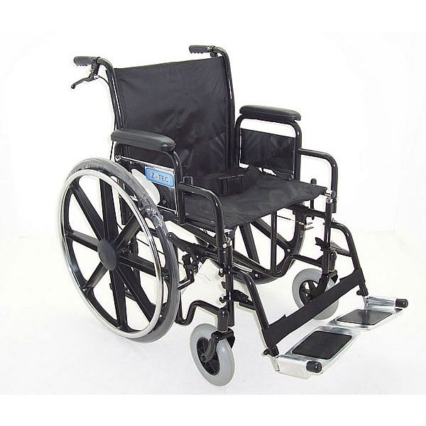 ZT 600-692 extra wide bariatric steel wheelchair side view